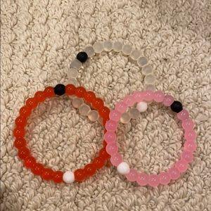 Lokai bracelets - set of 3